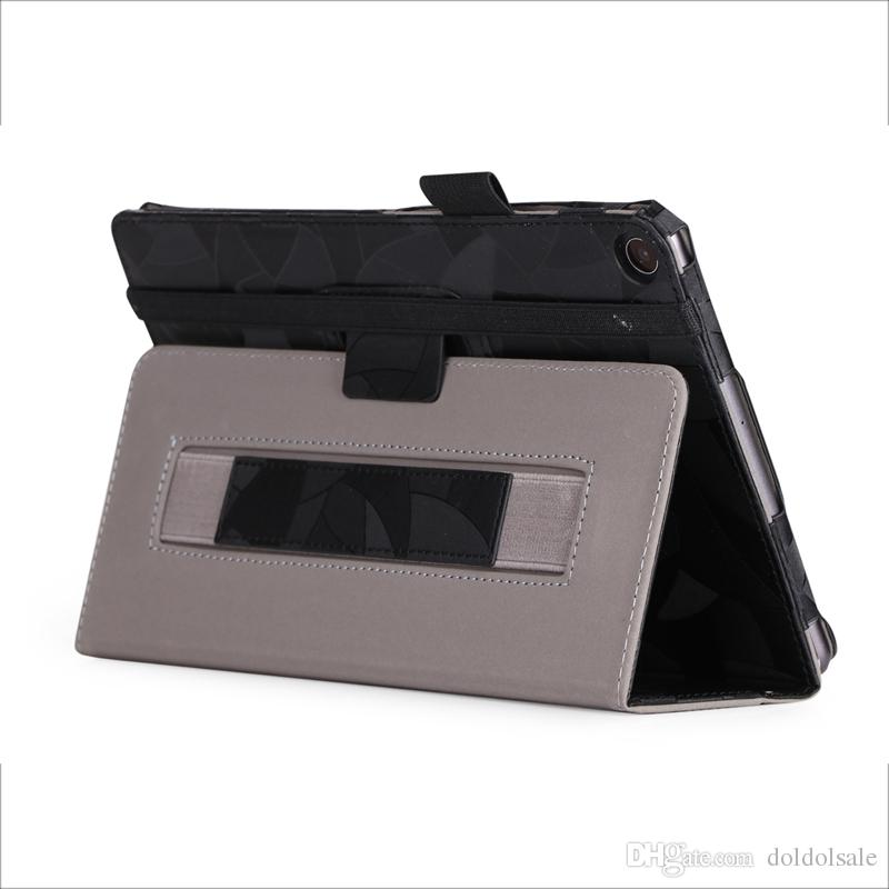 "Flip Book PU Cover Case Maple Leaf for Asus Zenpad Z8S ZT582 ZT582KL 8"" 8.0 2017 Tablet Hand Strap w/ Card Slots"