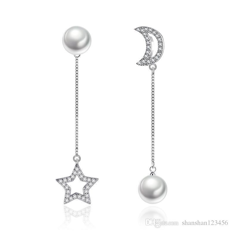 Fashion Cute Ear Wire Earrings Female Models Long Drop Crystal ...