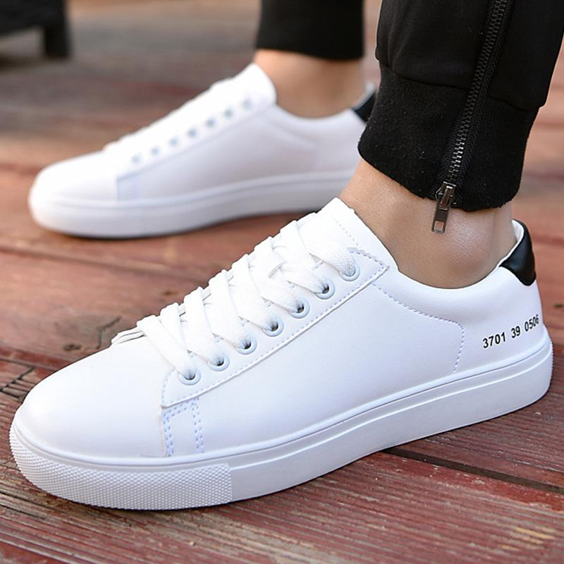 c8caaa21267 Men s Casual Shoes Solid White Designer Fashion Sneakers for ...