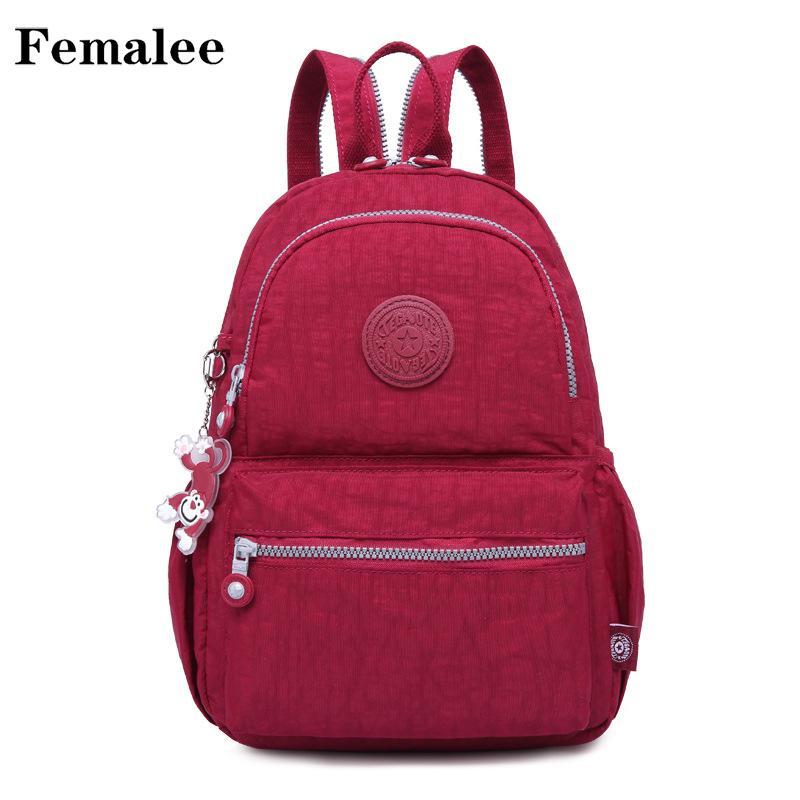 fe711020e323 FEMALEE Stylish Women Preppy Style Backpack For School Nylon Backpacks  Women S Bag Female Casual Travel Bags Womens Backpacks Pink Backpacks From  Lightout