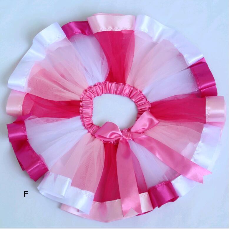 Rainbow Tutu Dress for Baby Girl Kids Dance Mesh Yarn Costumes Colorful Tutu Skirts Customized Size age 0-8