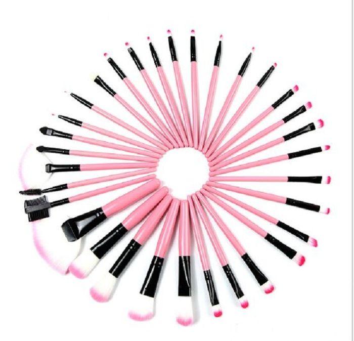 10 conjunto Maquiagem Profissional Escovas Sombras Sobrancelha Compõem Kit Escova Cosmética Kit Ferramenta + Roll Up Caso em Stolck Livre Drop Ship