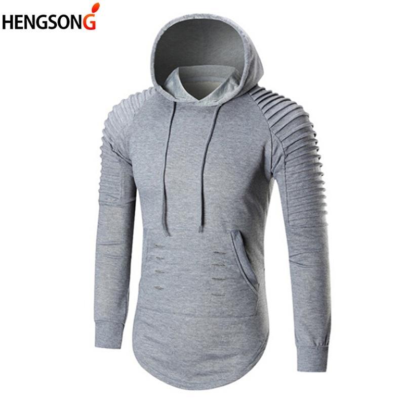 5ae5eeb62 Men's Hoodies New Autumn Hoody Solid Color Long Sleeve Hooded ...