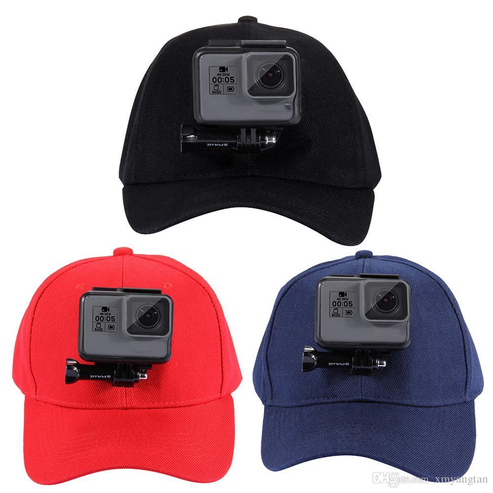 Спортивная камера GoPro аксессуары холст бейсбольная кепка ж / д-крюк пряжка крепление винт для GoPro HERO5 HERO4 сессии