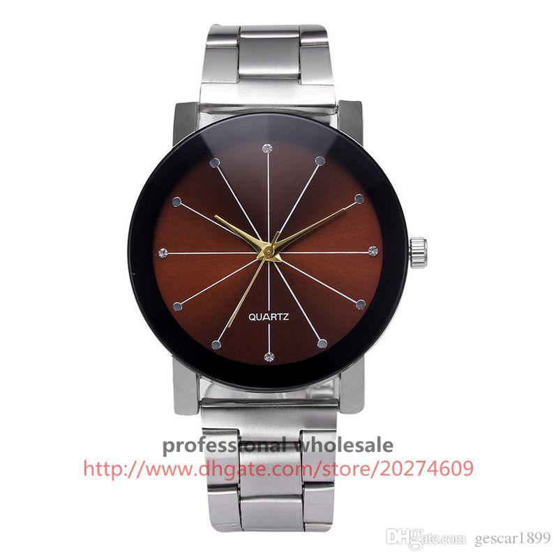 High Quality Watch Wholesale Black Silver Stainless Steel Quartz Watch Alloy Wristwatch For Men Women