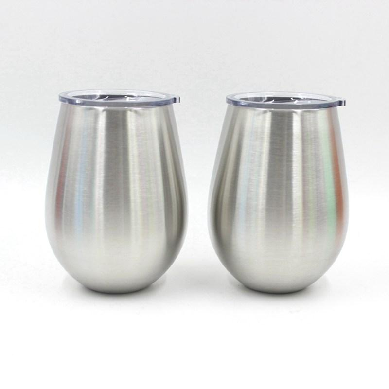 05c5a8d46ec Stainless Steel Double Wall Stemless Wine Glass Tumbler 10 Oz With Clear Lid  BPA Free Healthy Choice Best Value Mugs Designs Mugs For Coffee From  Bowstring, ...