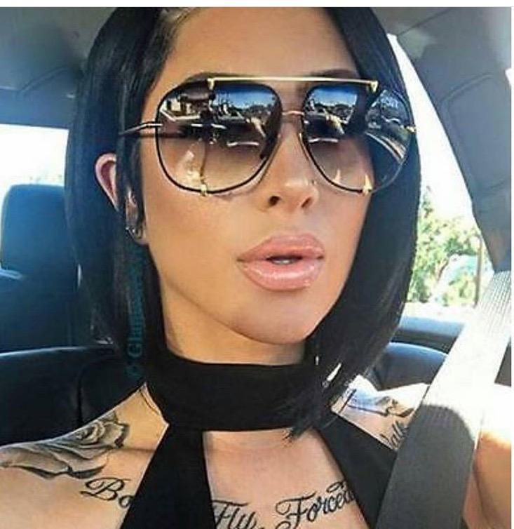 Hbk Fashion Oversized Aviator Sunglasses Women Uv400 Retro Brand ...