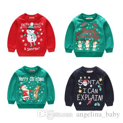 63f11a380146 2019 New Autumn Winter Children Christmas Jumper Sweater Kids Long ...