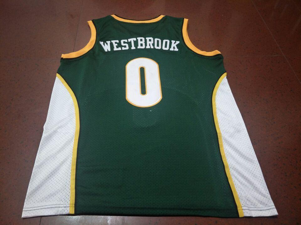 huge selection of 02a0c 3cae4 Men #0 Russell Westbrook jersey AUTHENTIC college Vintage jersey Size  S-XXXL or custom any name or number jersey
