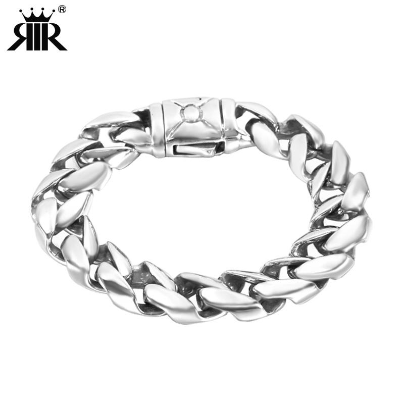 2019 RIR Minimalist Heavy Mens Bracelet Silver Stainless Steel Viking Big Chain Bracelet Cool Men Jewelry Gifts For Him From Maocai, $11.53 | DHgate.Com