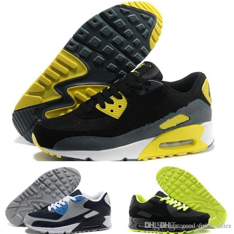 4a80ed6562e Compre Nike Air Max Supreme Off White Vapormax Nike 90 Mens Sneakers Shoes  Clássico 90 Homens Running Shoes Preto Vermelho Branco Sports Trainer  Almofada ...