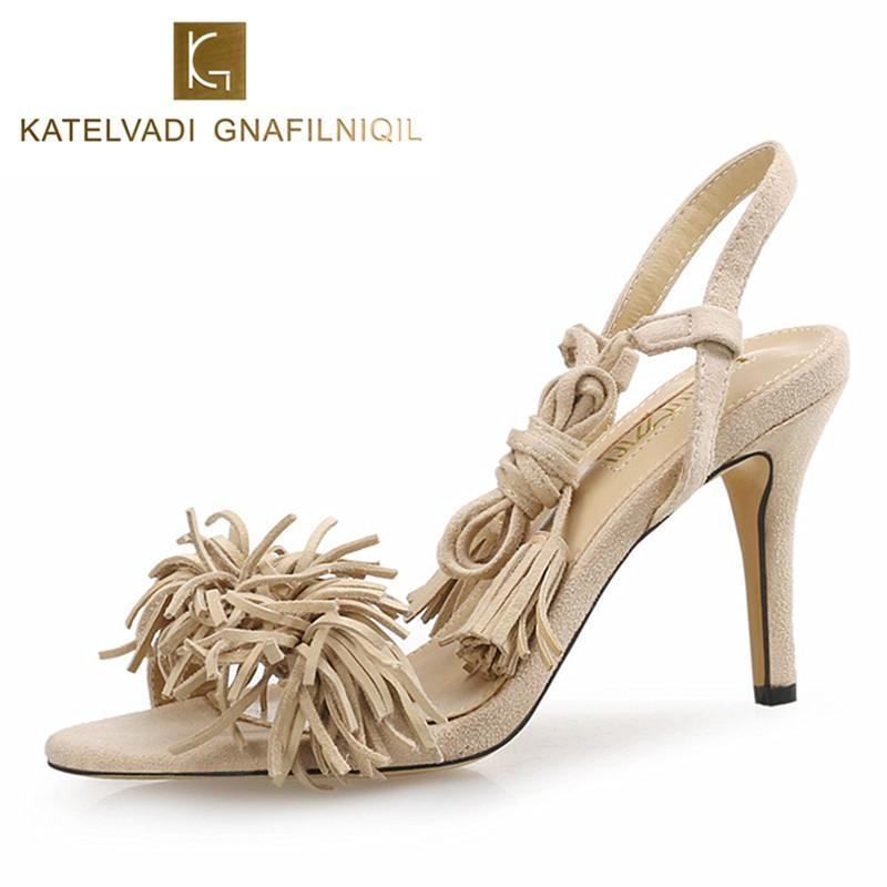 96fe0823c106 Sandals Women Heels Summer Gladiator Sandals Women Shoes 8CM High ...