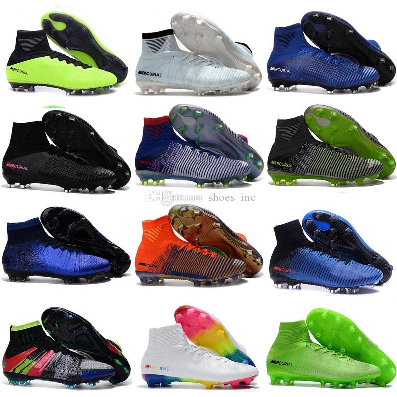 75b6fd98dd3 2019 2018 Kid Indoor Soccer Shoes IC TF Mercurial Superfly Kids Football  Boots Cr7 High Top Men Soccer Cleats Futsal Boys Magista Obra Ace 17 New  From ...