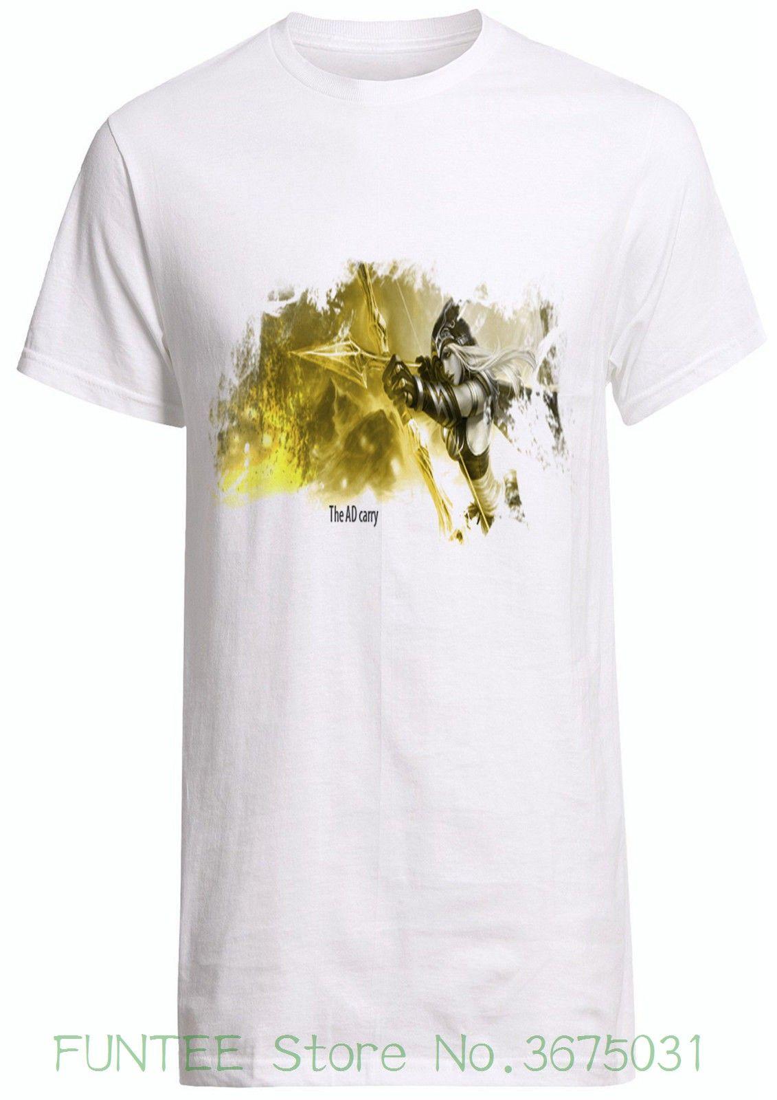 Women'S Tee League Of Legend Ad Carry Ashe Tee Volibear Ashe Vayne Shirt  Custom T Shirt Print Women T Shirt Be Awesome T Shirt Print On Tee Shirt  From ...