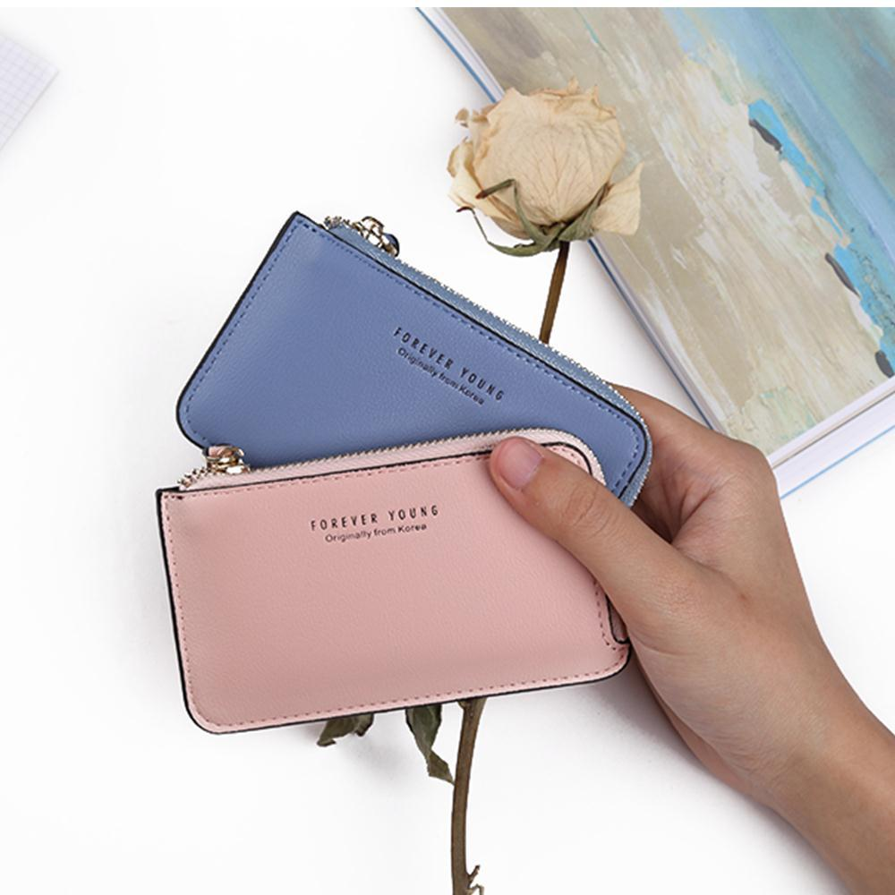 48cbeb3de246 Latest Leather Women Wallets Zipper Coin Holder Small Purse Lady Credit  Card Holders Cute Girl Wallets Mini Change Purse Handmade Leather Wallets  Small ...
