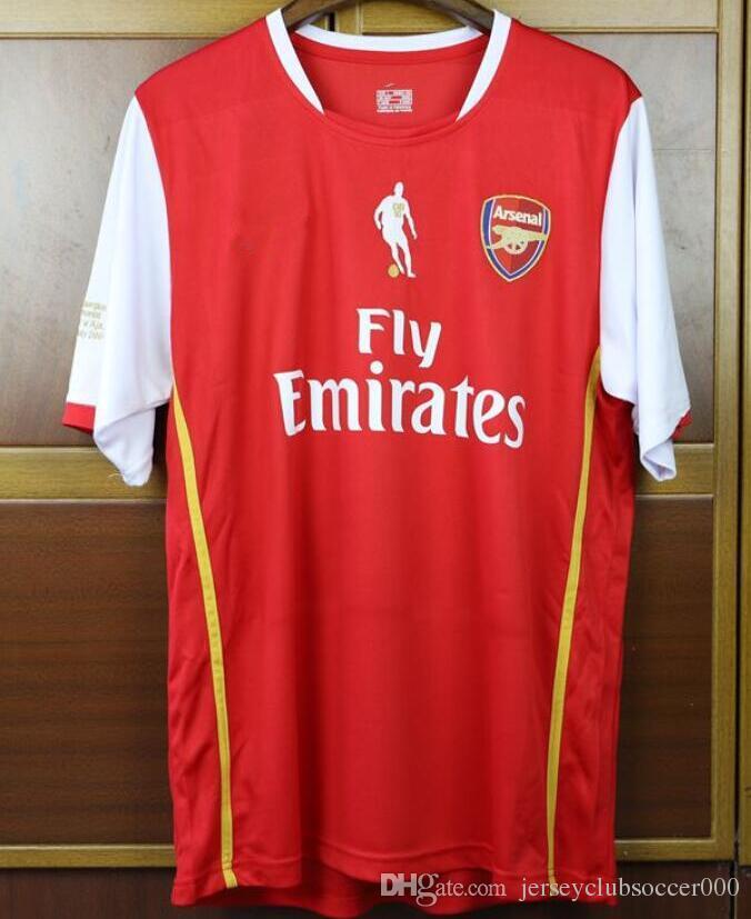 a0175d1e467 2019 ARS Gunners Velvet Name Number 06 07 Bergkamp Retired Ajax Henry Retro  Soccer Jersey 2006 2007 Vintage Classic Football Shirt From  Jerseyclubsoccer000