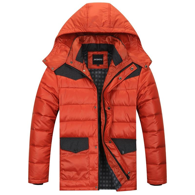 New Winter Herrenmode Casual Stehkragen große Yards Fett Nussgroße Yards Jacke plus Dünger erhöhen Marke Daunenjacke