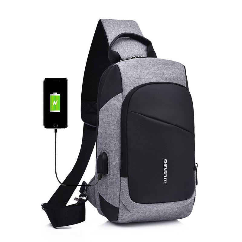 Multifunction Crossbody Bags Men USB Charging Chest Pack Short Trip  Messengers Chest Bag Water Repellent Shoulder Bag Male Visconti Bags  Waterproof Fanny ... e90760a390d3c
