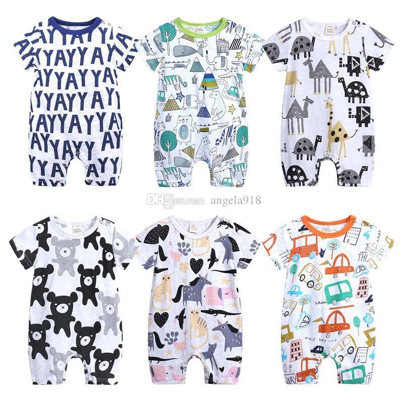a6843b88150e Baby Boy Unicorn Jumpsuit Cotton Comfortable Baby Clothing Open ...