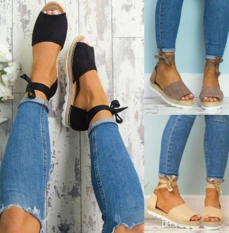 d7d8ee600175 Hot! Summer Fashion New Women s Sandals Ankle Strap Fisherman Casual ...