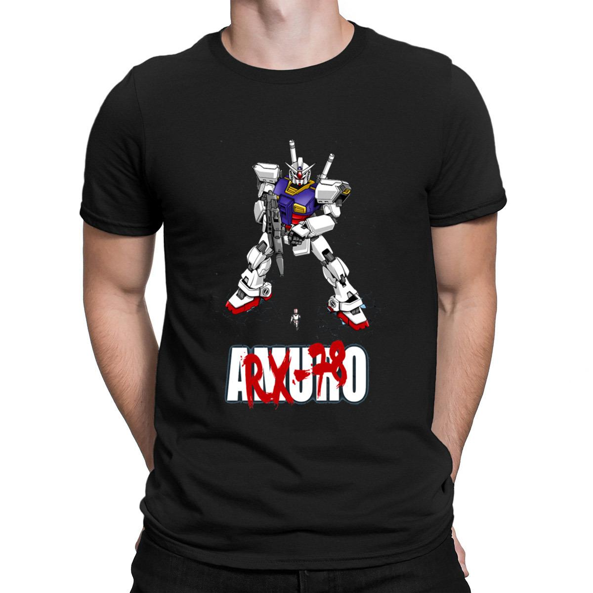 Gundam Rx 78 Tshirt Trendy Designer Fit Vintage T Shirt For Men 100% Cotton Costume Sunlight Popular