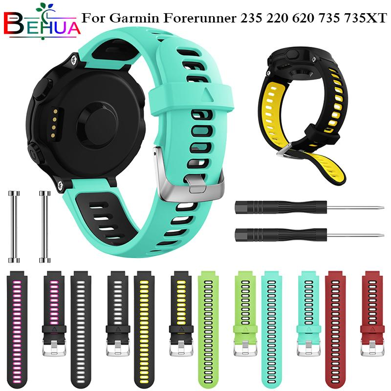 Watchband For Garmin Forerunner 735xt Watch Soft Silicone Strap