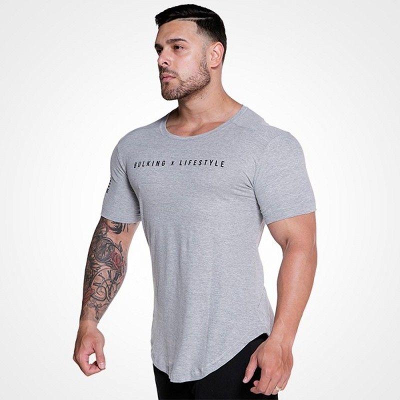 Compre Mens Verão Roupas De Marca Moda Fitness Camiseta Crossfit Musculação  Muscular Masculino Manga Curta T Algodão Fino Tops Vestuário De  Houqizhixiu55888 ... a054b8e16d2