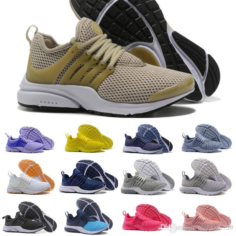 huge discount c920e 153bd New 2018 Prestos 5 Running Shoes Men Women Presto 4 Air Ultra BR QS Yellow  Black Pink Oreo Outdoor Fashion Jogging Sports Sneakers Running Shoe Best  Running ...