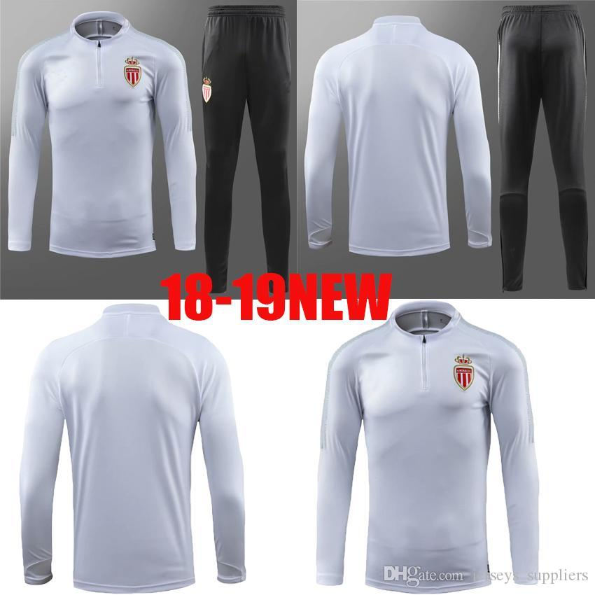 Jacket White Tracksuit 19 Full New Football Falcao Product From 2019 Suit Football Quality AA Monaco New Training 18 Radamel Sets Jacket Soocer Thai nxv7Yx8qwg