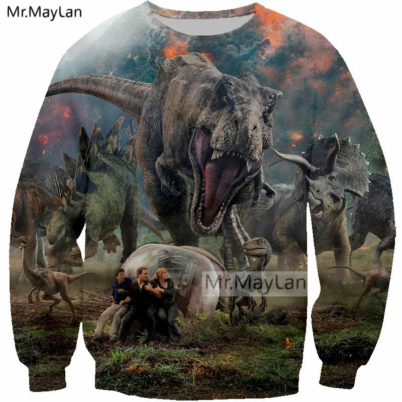 Men's Clothing Latest Collection Of 2018 New Movie Jurassic World Fallen Kingdom Dinosaur 3d Print Jacket Men/women Streetwear Hoodies Sweatshirt Boy Autumn Clothes Discounts Price