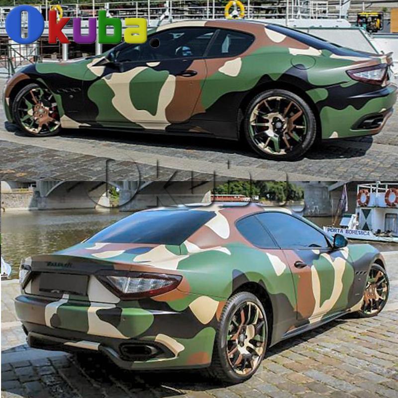 2019 Jumbo Green Jugle Camouflage Vinyl Wrap Car Styling Military