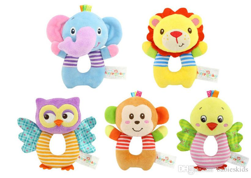 Newborn Baby Toys Stuffed Animals Cartoon Animal Baby Boy Girl