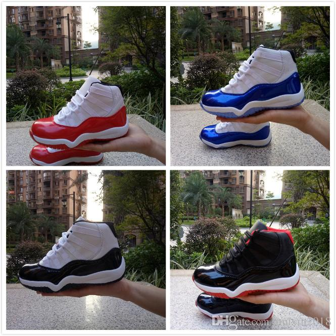 89261d08df74be 2019 Kids 11 11s Space Jam Bred Concord Gym Red Basketball Shoes Children  Boy Girls 11s Midnight Navy Sports Toddlers Birthday Gift From Muxin2018