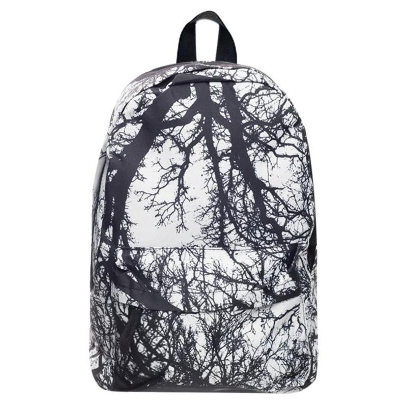 MOJOYCE Street Women Men 3D Digital Tree Printed Backpacks Teen Zipper  Travel Shoulder Schoolbags Chic Style Unisex Backpack Boys Backpacks  Hydration ... 7f66268704066
