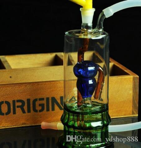 Inverted Kürbis stumme Shisha, senden Topf Zubehör, Glasbongs, Glas Wasserpfeife, Rauchen, Farbmodelle ausgeliefert