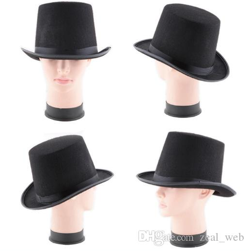 CHRISTMAS Black Felt Top Hat Magician Formal Costume Top Hat magic trilby party hats Festive & Party Supplies