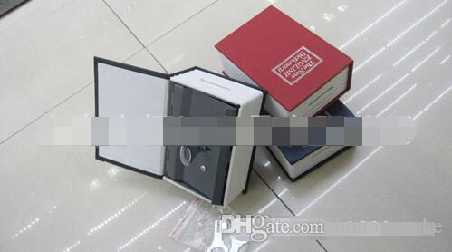MINI Size Simulation Dictionary Book Safe Cash Money Jewelry Home Secret Locker Storage Box Case with a key lock