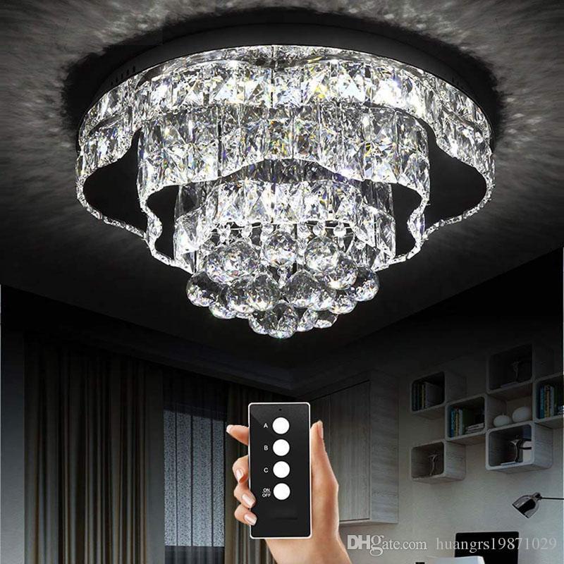 Fernbedienung Restaurant Helligkeit Wohnzimmer Schlafzimmer Kristall Mit Licht Chrom Deckenleuchten Led Lampe 3 Lampen 8wk0OPn