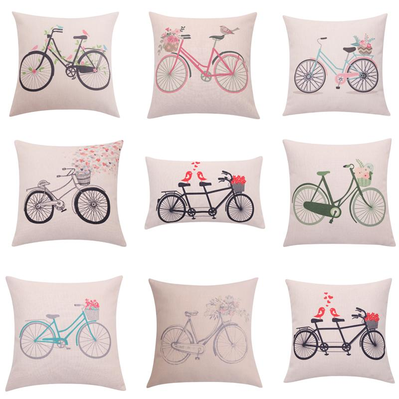 Wholesale Flower Bicycle Cushion Cover Love Birds Throw Pillow Cover Stunning Decorative Pillow Covers Wholesale