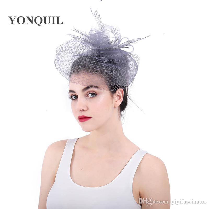 b021d7f2d03b5 Multicolors Or Grey Crinoline Veil Fascinators Hats Hair Accessories ...
