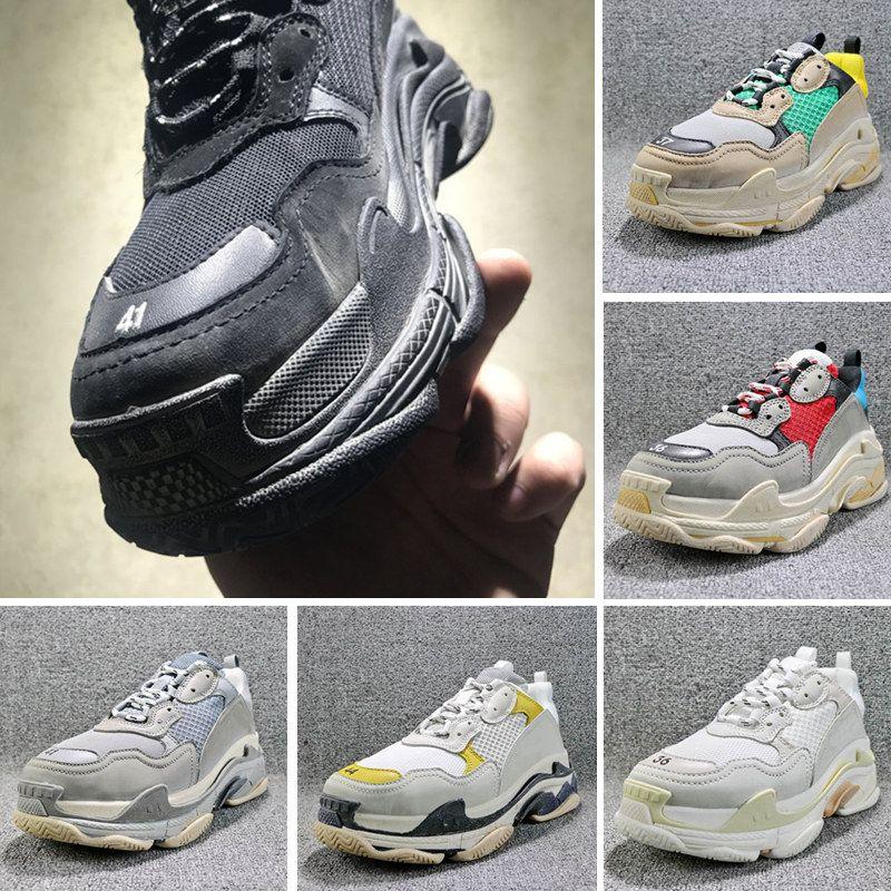 945a65e09 Hot Sale 2018 Fashion INS New Paris 17FW Triple-S Running Shoes ...
