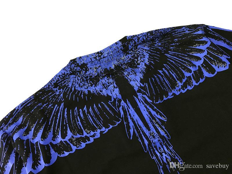 Высокое качество 2018 Марсело Бурлон футболка Италия графство Милан перо крыло мужчины MB футболки мода повседневная женщины лето стиль Tee