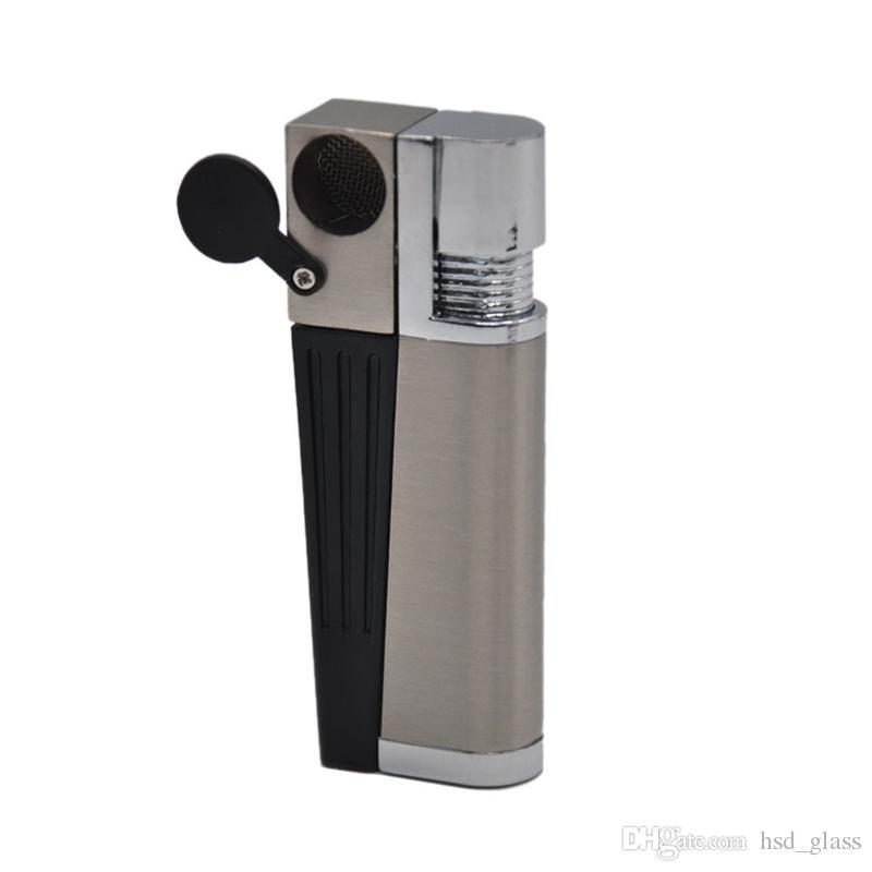 Tubo di fumo di tabacco di metallo Clicca N Vape Sneak di un pipa di fumo di Vape Vaporizzatore portatile di erbe erba secca di torcia con accendino