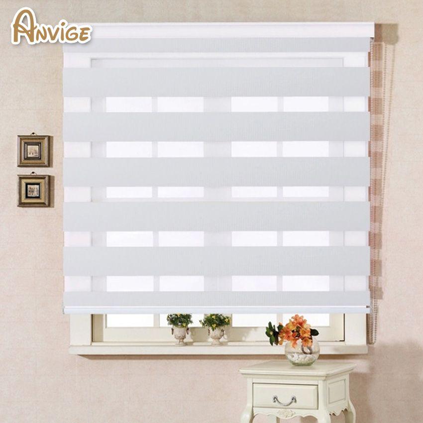2019 100 polyester translucent modern white color zebra blinds rh dhgate com modern farmhouse white curtains white modern curtains for living room