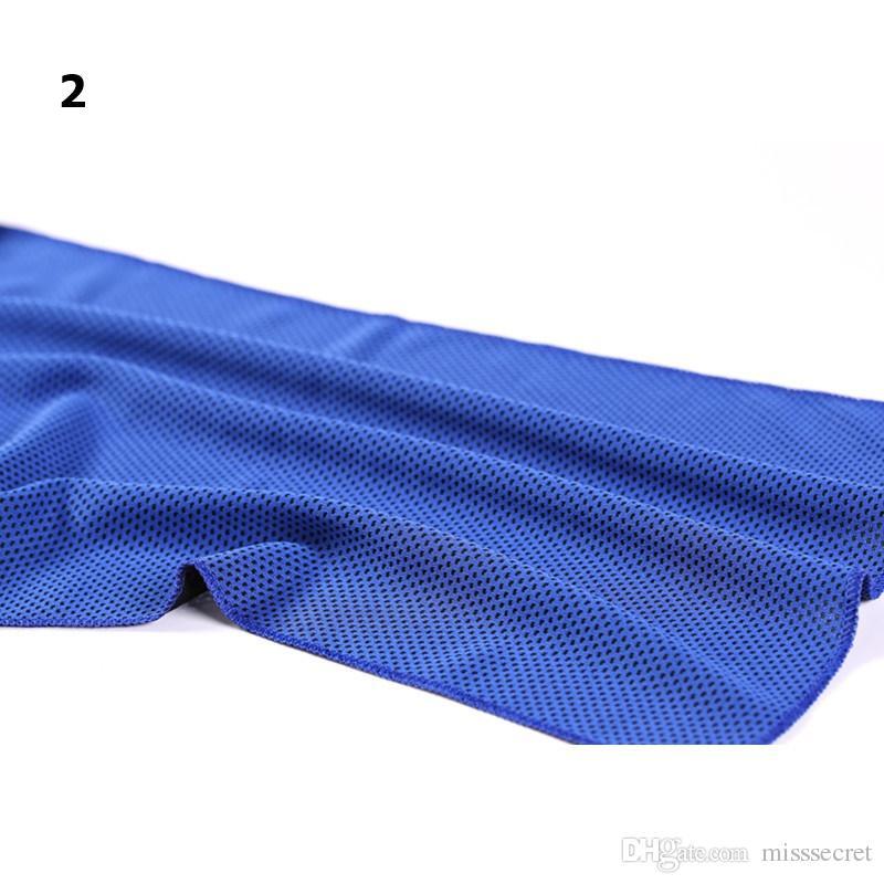 11 cores de arrefecimento toalha Gelo FRIO Arrefecer toalha fria Quick-seco Gym Exercício suor de verão Relief Calor Toalha 90x30cm