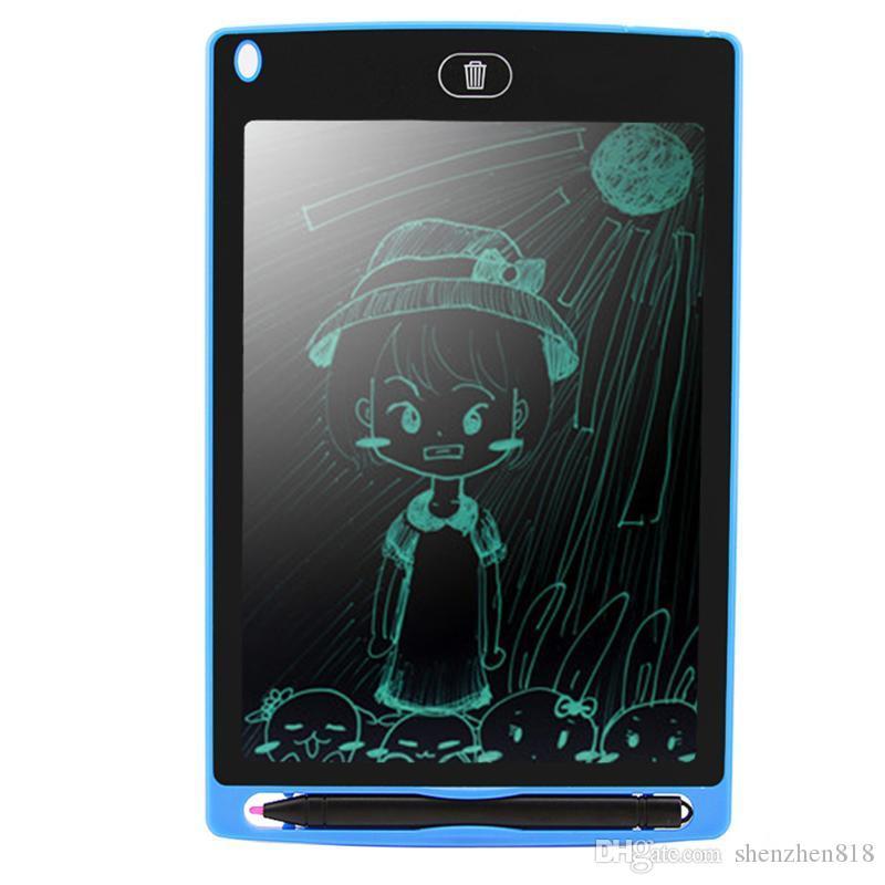 50818D 8.5 inç LCD Yazma Tablet Memo Çizim Tahta Blackboard El Yazısı Pedleri Çocuklar için Yükseltilmiş Kalem ile Ofis Bir Butt Noel Hediyeleri