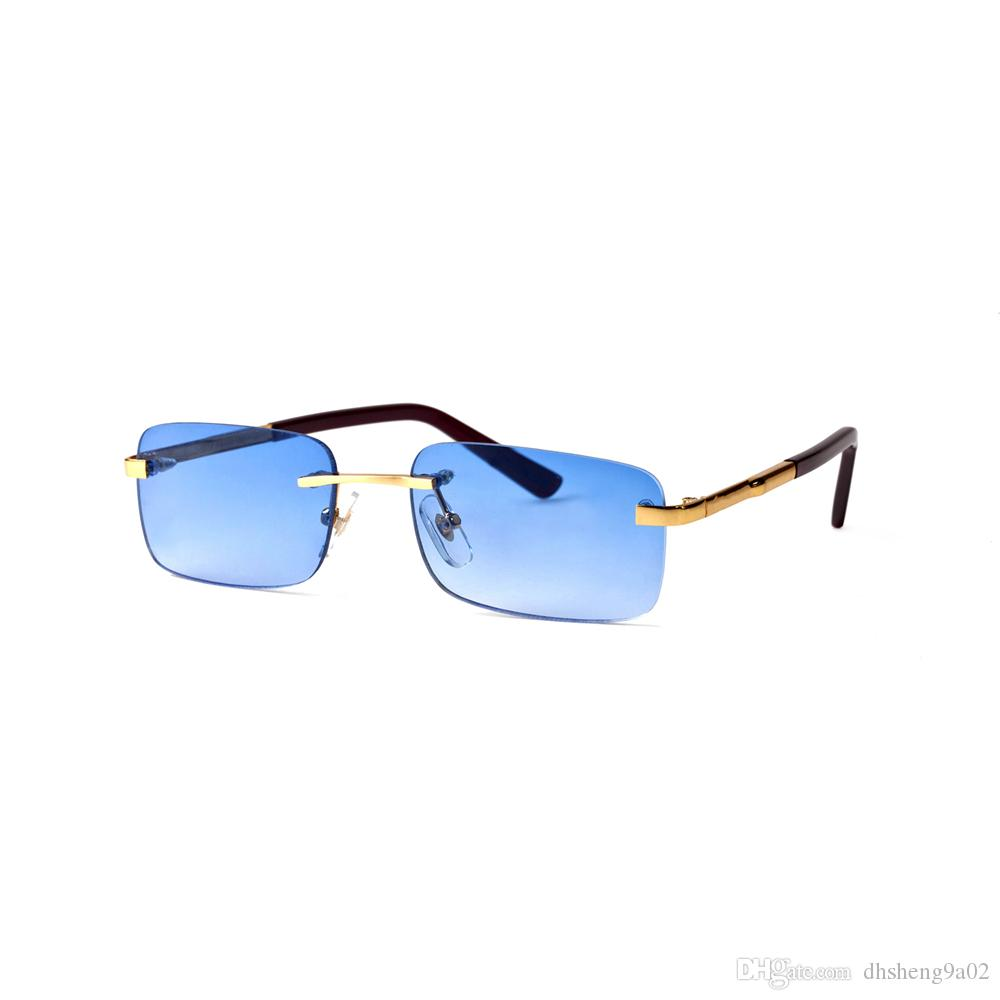 2ff6b8682a Compre Gafas De Sol Rectangulares Polarizadas Rectangulares Hechas En  Francia Gafas De Sol Vintage Unisex Metálicas Con Lente Transparente Bril  ENVÍO GRATIS ...