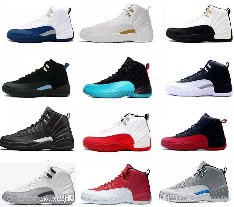 cd4f45ca67cd 12 12s Basketball Shoes For Mens Winterized WNTR Gym Red Flu Game  University Blue College Navy The Master Sports Sneakers 7 13 Sport Shoes  Mens Sneakers ...