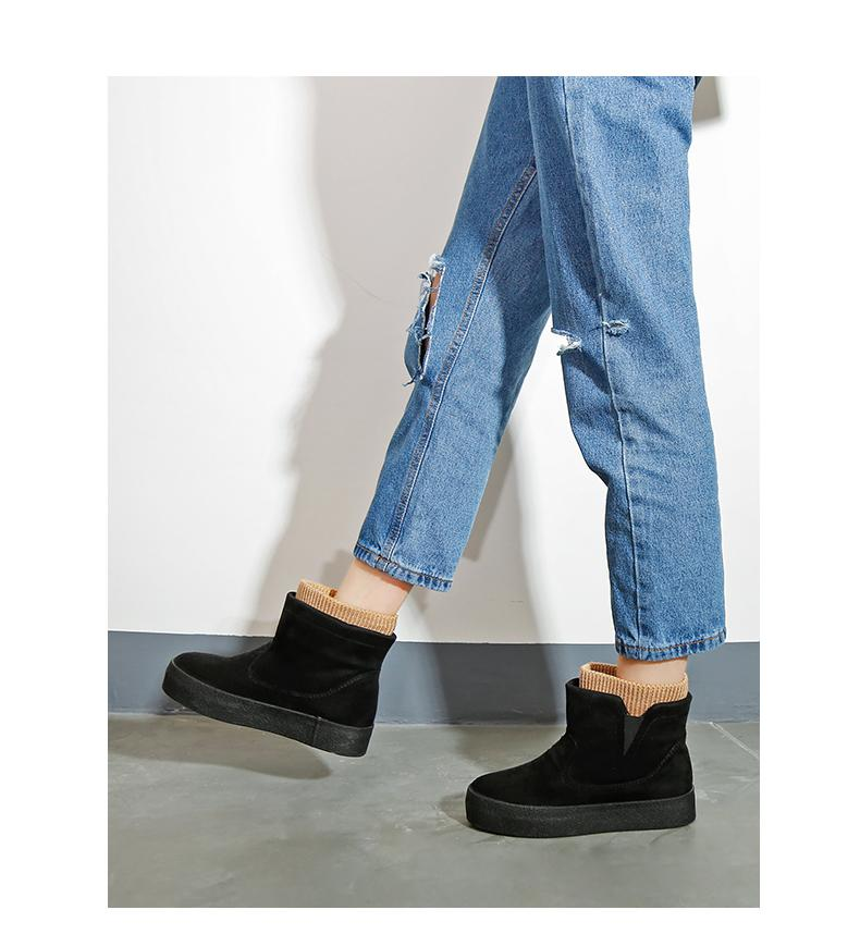 Winter Boots Botas Mujer 2018 New Women Boots Fashion Flock High-heeled Platform Ankle Up High Heels Spring Autumn Shoes For