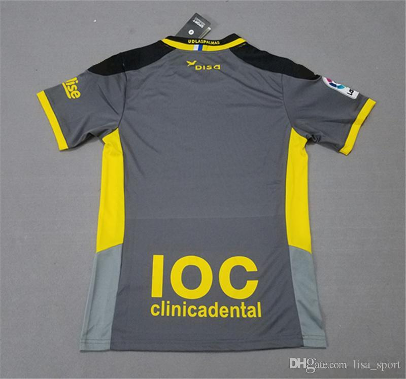 2019 Las Palmas Away Grey Soccer Jersey 17 18 Las Palmas Away Soccer Shirt  2018 Football Uniform Discounted Sales From Lisa sport f0997259e